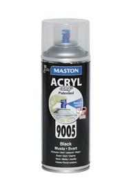 Aerosoolvärv Acryl, must läikiv 400ml