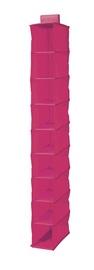 Rippriiul 9 riiuliga Compactor, 15x30x128cm, roosa