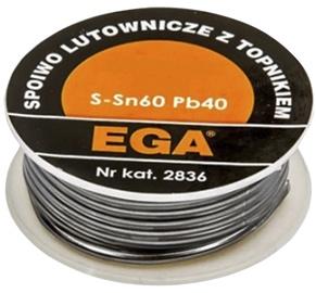 Lodalva ar kanifoliju EGA 60% Sn 40% Pb, Ø1,0mm, 100g