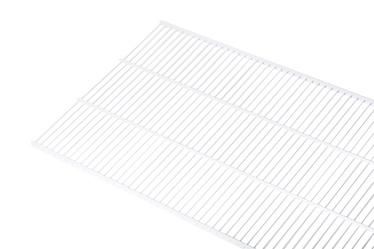 Võrkriiul Necos WS40, 1800 x 406 mm, valge
