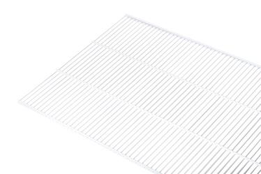 Võrkriiul Necos WS50, 1800 x 508 mm, valge