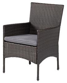 Krēsls pīts Savannah, brūns/melns