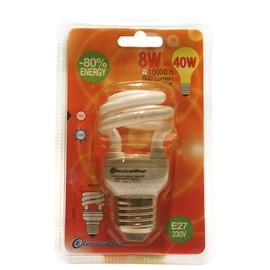 Säästulamp Electraline Spiral T2 8W E27