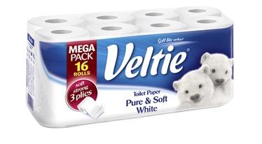 Tualetes papīrs Veltie Pure&Soft, 16 gab.
