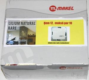 Lüliti Makel Lilium 1+1, raamita, valge, 12 tk