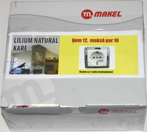 Kontaktligzda Makel Lillium 1P Z/K B/R, balta, 12 gab.