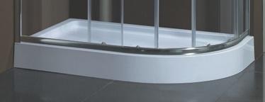 Duškabīnes paliktnis Harma DNA07 120x85x15cm, apaļš, kreisais