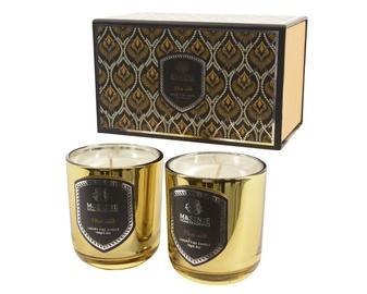 Lõhnaküünal klaasis 5.5x6.5cm 2tk kuld