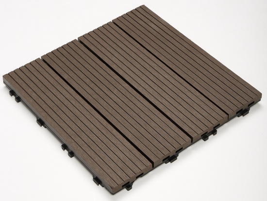 Terrassiplaat Komposiit 30x30x2,2 pruun