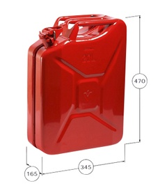 Kanister 20L, metall, roheline