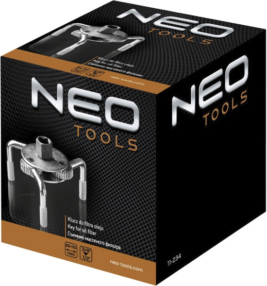 Atslēga eļļas filtra noņemšanai Neo 65-110mm