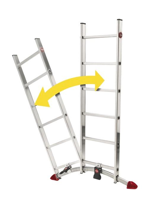 Kombinējamās alumīnija kāpnes ProfiLOT, 2x9+1x8 pakāpieni