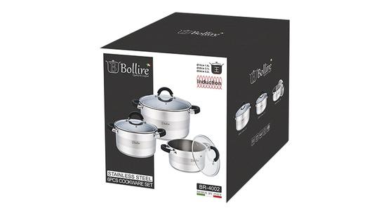 6-osaline pottide komplekt Bollire BR-4002