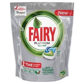 "Indaplovių kapsulės Fairy ""All in 1 Platinum Green"", 37 vnt"