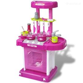 Žaislinė Virtuvė su Šviesos ir Garsų Efektais, Rožinė