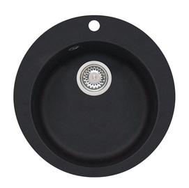Virtuvės plautuvė Alveus Victoria 3321091,su sifonu, juoda, 50,5x50,5x20,6 cm