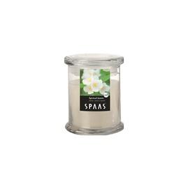 Lõhnaküünal Spaas 9,1X10 cm, puit/jasmiin, klaasümbris