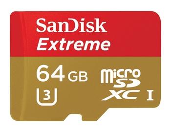 Atminties kortelė Sandisk Extreme microSDXC 64GB  + adapteris