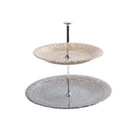 Dviejų aukštų serviravimo stovas  Globe 28 cm