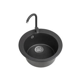 Virtuvės plautuvė Alveus Victoria 3321091KP, juoda, 50,5x50,5x20,6 cm