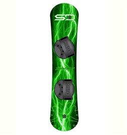 Snieglentė Snowdaze Green Lightning Kids, su apkaustais, 110cm