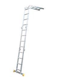 Multifunkcionālās alumīnija kāpnes Itoss Forte 4413, 123-436cm, 4x4 pak.
