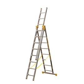 Alumīnija kāpnes Itoss Forte 8608 242-525cm, 3x8 pak.