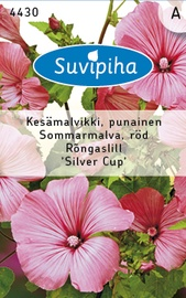 Seemned rõngaslill Silver Cup, roosa, 1g