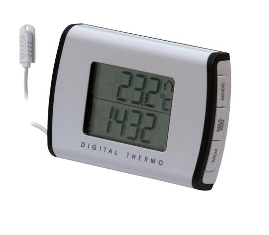 Termomeeter digitaalne sise/välis valge