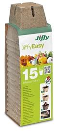 Turbapott Jiffyeasy, kandiline, 8x8cm, 15tk/pk