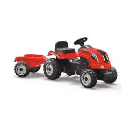 Vaikiškas traktorius su pedalais, raudona