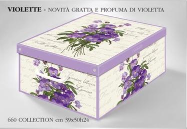 Karp kaanega kartongist 39x50x24cm, violette