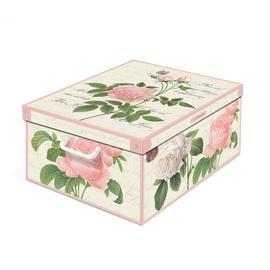 Karp kaanega kartongist 39x50x24cm, roosid