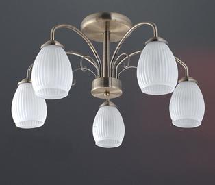 Griestu lampa 57589BR/5H 5x60W E14 230V
