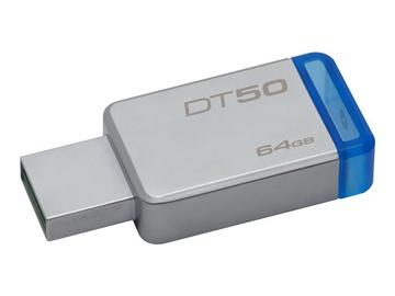 RAKTAS USB KINGSTON DataTraveler50 64GB USB3 Metal/Blue