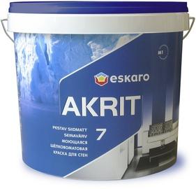 Seinavärv Eskaro Akrit 7, matt, valge (A) 4,75L