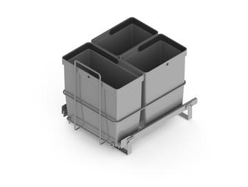 Jäätmeämbrite komplekt LM64/3, hõbe
