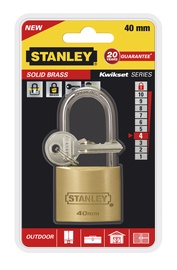 Tabalukk Stanley, messing, 40mm, pikk aas