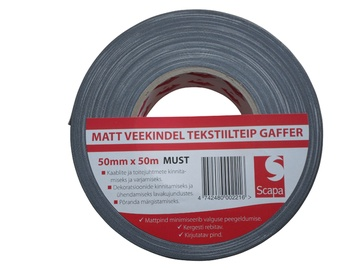 Teip Gaffer Scapa 3130, 50 mm x 50 m, must