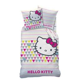 Patalynės užvalkalų komplektas Hello Kitty, 140 x 200 cm, 2 dalių