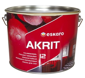 Seinavärv Eskaro Akrit 12, poolmatt, värvitu (TR) 9L