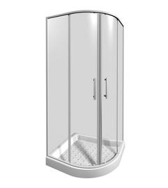 Dušo kabina Jika Lyra Plus 25338, pusapvalė, 80x80x190 cm