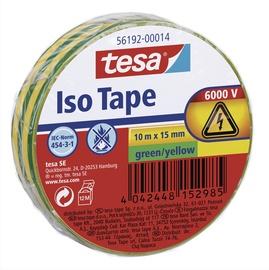 Isoleerteip Tesa PVC 10m x 15mm, roheline / kollane IEC