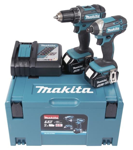 Combokit Makita DLX2127MJ, 18 V, 2 x 4,0 Ah