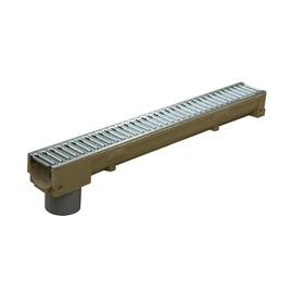 Latako elementas su grotelėmis ir PVC vamzdžiu STORA Drain H90, 1m