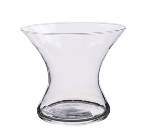Klaasist vaas, 18x15,5 cm