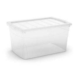 Daiktadėžė Omni Box, permatoma su dangčiu 58.5x39x30 cm