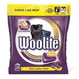 Gelinės skalbimo kapsulės WOOLITE Keratin Dark 28x22g