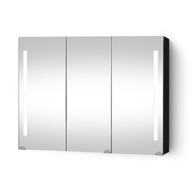 Seinakinnitusega vannitoakapp Riva SV90-1, must