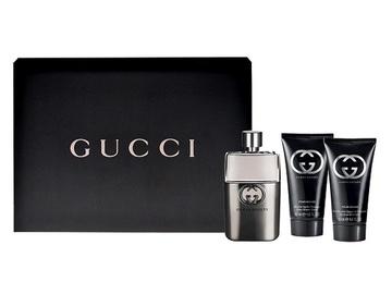 Rinkinys Gucci Guilty Pour Homme: tualetinis vanduo EDT 90ml + 75ml balzamas po skutimosi + 50ml dušo žėlė, vyrams